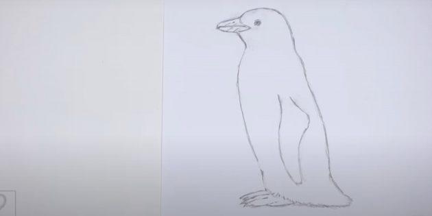 पेंगुइन के अंदर सहायक लाइनों को मिटा देगा