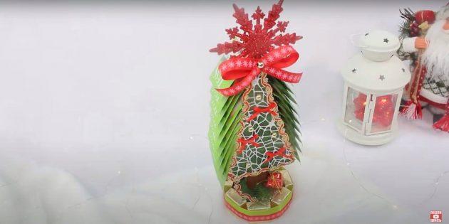 Новогодние подарки своими руками: чайно-конфетная ёлка