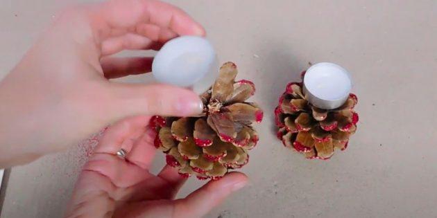 Comment faire un chandelier de vos propres mains: Bougies de bâton
