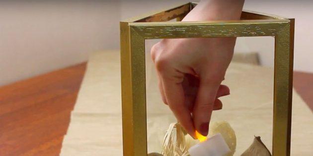 Comment faire un chandelier le faire vous-même: décorer