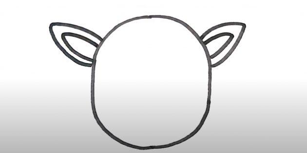 Piirtää hirvipää