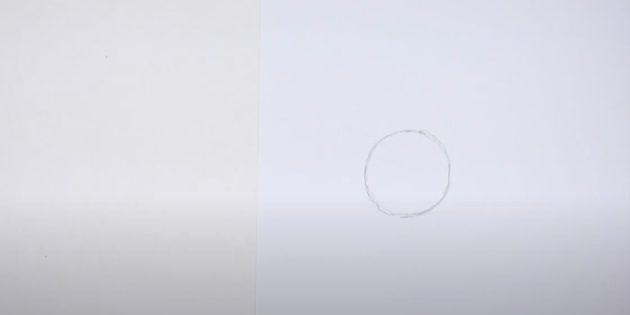 Miten tehdä hirvieläin: Piirrä ympyrä