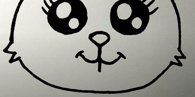 Cách vẽ thỏ rừng: Thêm chạm vào miệng của bạn