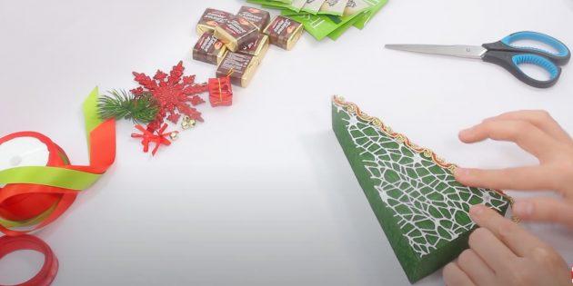 Жаңа жылдық сыйлықтар өзіңіз жасайды: дайындаманы безендіріңіз