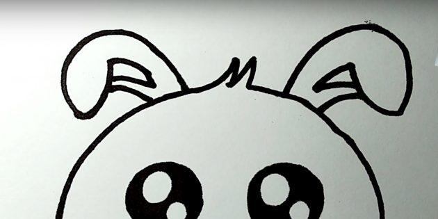 Sådan tegner du en hare: Billede et andet øre