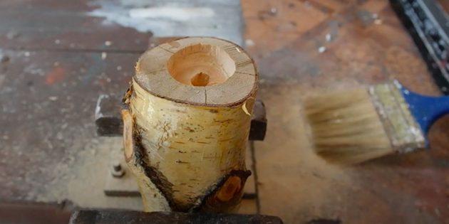 Comment faire un chandelier avec vos propres mains: couvre vernis