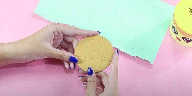Cofrinho com suas próprias mãos: faça um círculo