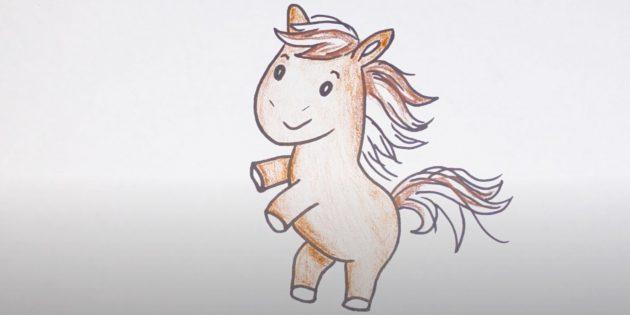 Hoe een paard te tekenen: huid het paard