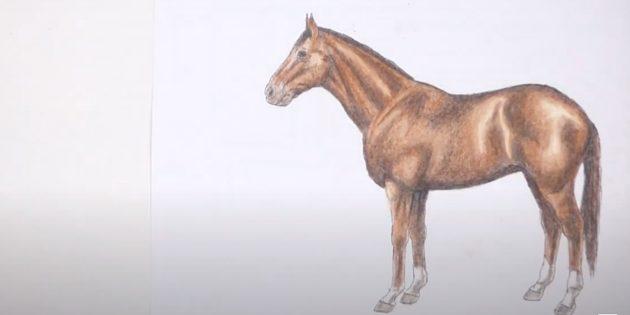 Staande realistische paard