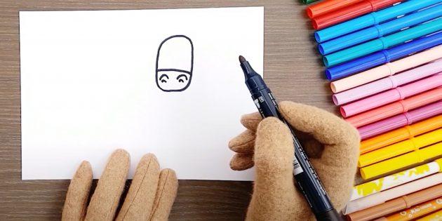 말을 그린 방법 : 머리를 그립니다