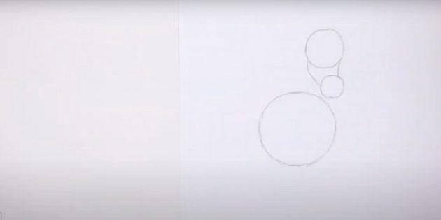 Hoe een paard te tekenen: noteer de snuit