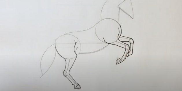 말을 그려야하는 방법 : 다리를 그립니다