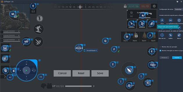 mapeamento-teclas-free-fire-ld-cke Saiba como rodar Free Fire no PC com emulador Android leve!