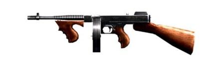 thompson free fire submachine gun