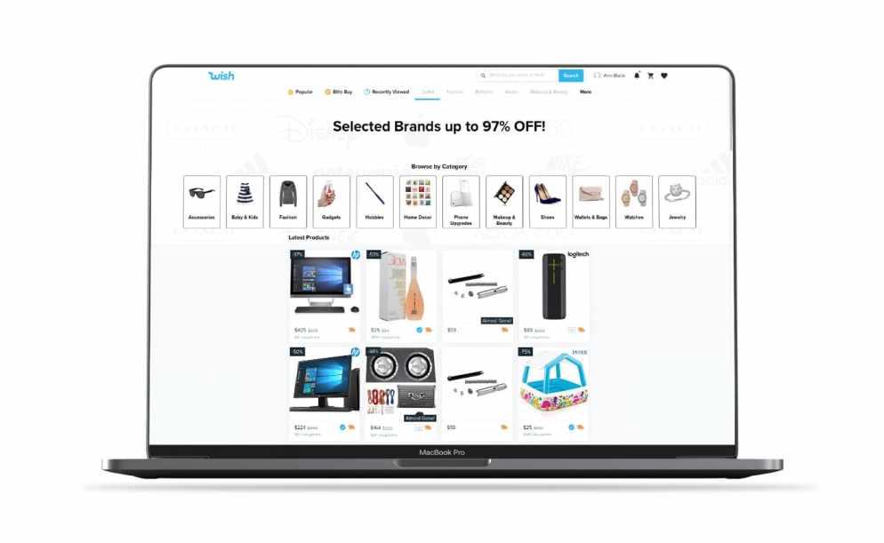 Wish shopping app screenshot