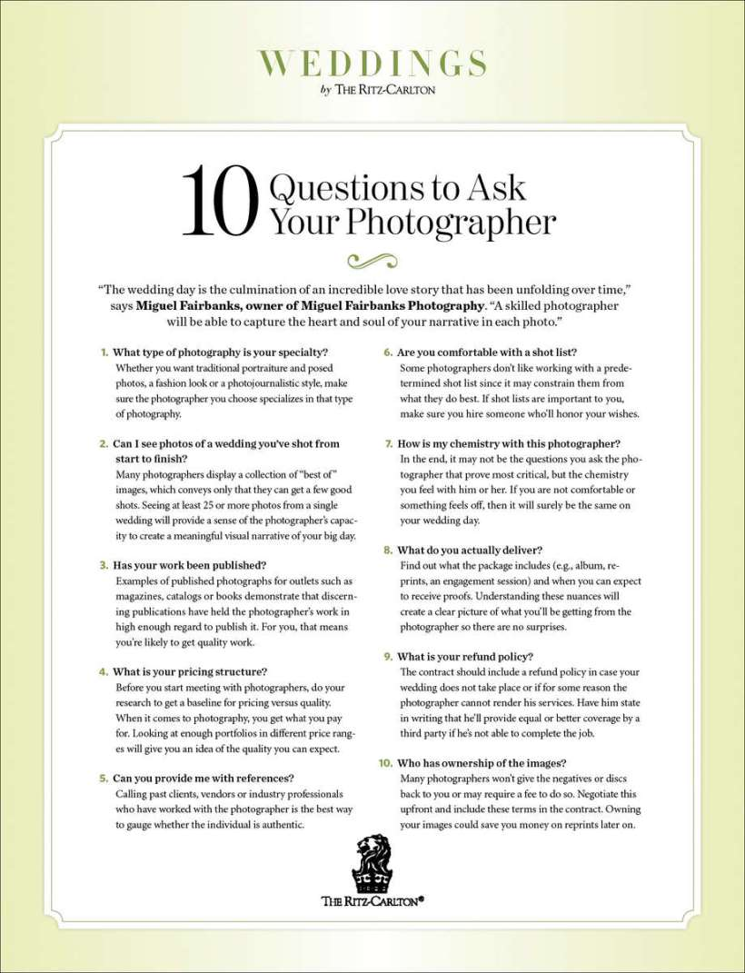 What questions should i ask a wedding photographer deweddingjpg questions to ask wedding photographer images dress junglespirit Gallery