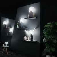 MOON Lampe en Opalflex® effet marbre H57cm
