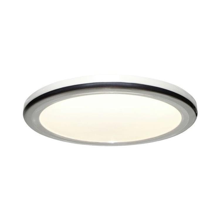palin plafonnier led de salle de bain metal polycarbonate o30cm
