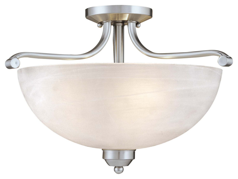 three light semi flush mount from the
