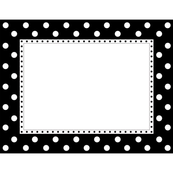 BARKER CREEK (6 EA) BLACK & WHITE DOT CHART LL830CHBN | eBay