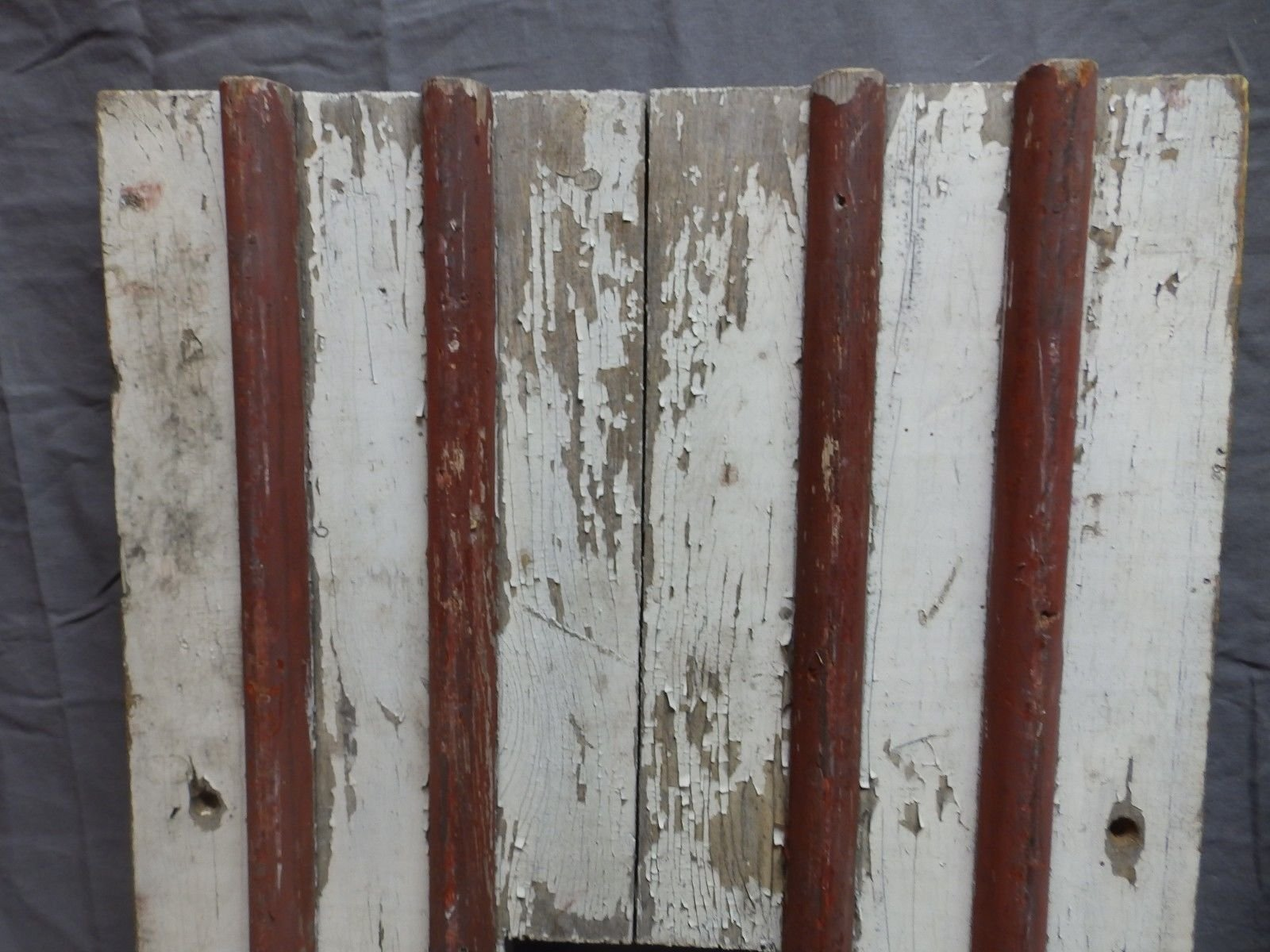 Pair Antique House Window Wood Shutters 62x15 Adirondack