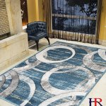 Details About Modern Faded Distressed Geometric Circle Pattern Contemporary Area Rugs