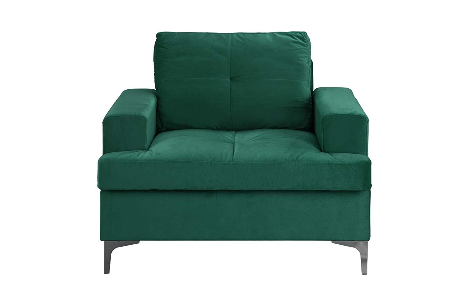 Details About Mid Century Modern Velvet Fabric Armchair Living Room Accent Arm Chair Green