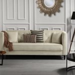 Details About Mid Century Tufted Velvet Sofa Living Room Couch With Tufted Buttons Beige