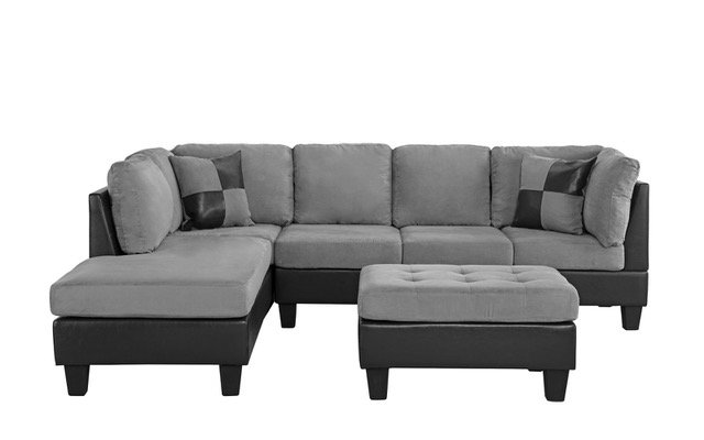 tone sectional sofa reversible ottoman