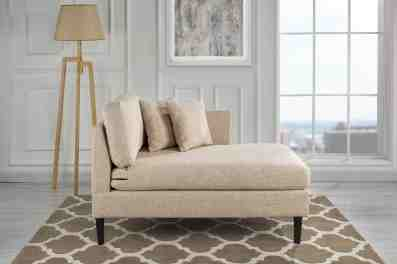 Details About Classic Linen Fabric Chaise Lounge For Living Room Bedroom Beige