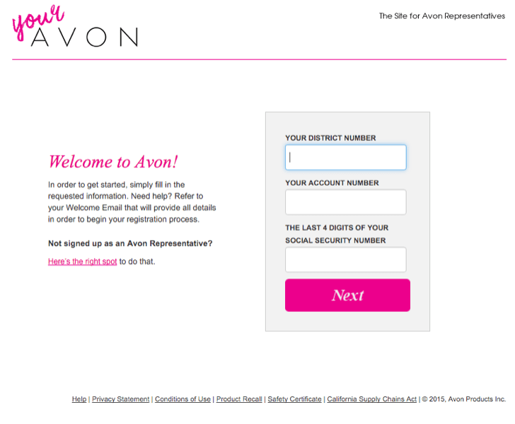 Image result for register your avon account