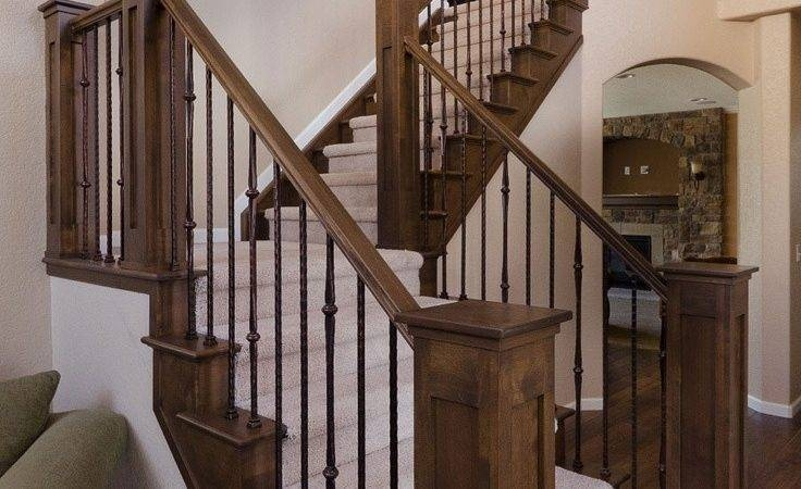 Top 23 Photos Ideas For Indoor Staircase Railing Little Big | Indoor Stair Railings Home Depot | Metal | Interior | Deck Stair | Aluminum Railing | Iron Stair