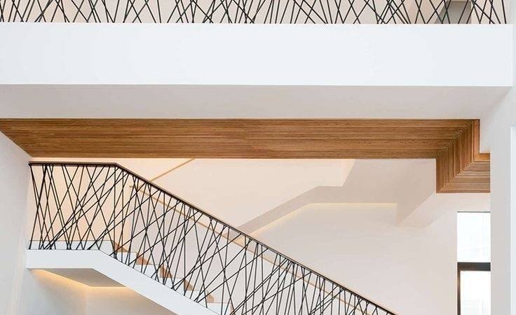16 Spectacular Modern Metal Stair Railings Interior Little Big   Modern Metal Stair Railing   Interesting   Horizontal Slat   Curved Metal   Low Cost   Before And After