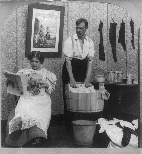 The new woman - wash day, Library of Congress Prints and Photographs Division Washington, D.C. 20540 USA