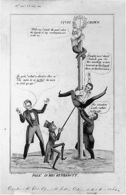 Political cartoon, 1844