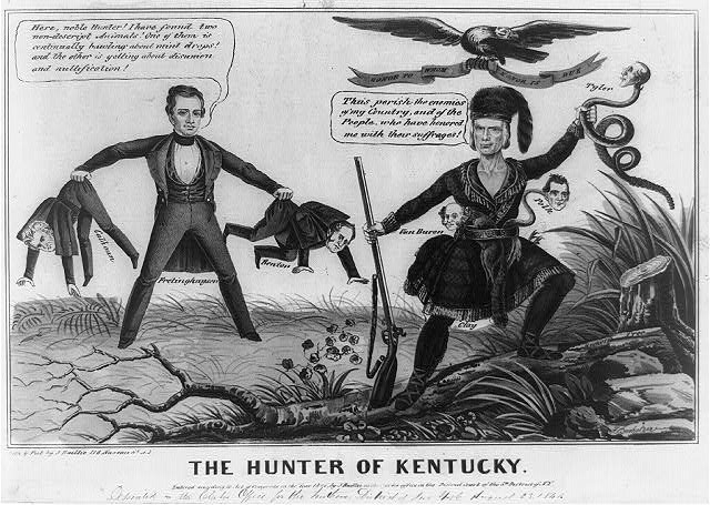 Pro-Clay political cartoon, 1844
