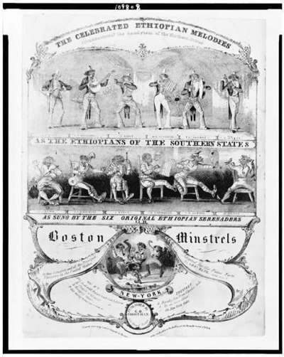 Boston minstrels. The celebrated Ethiopian melodies .