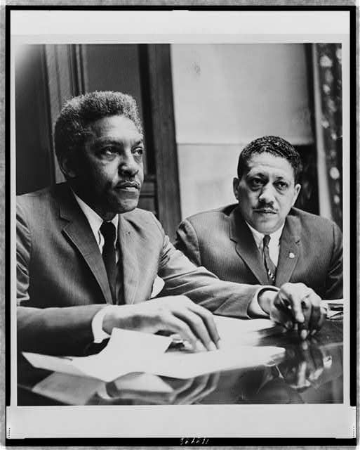 [Bayard Rustin and Dr. Eugene Reed at Freedom House]
