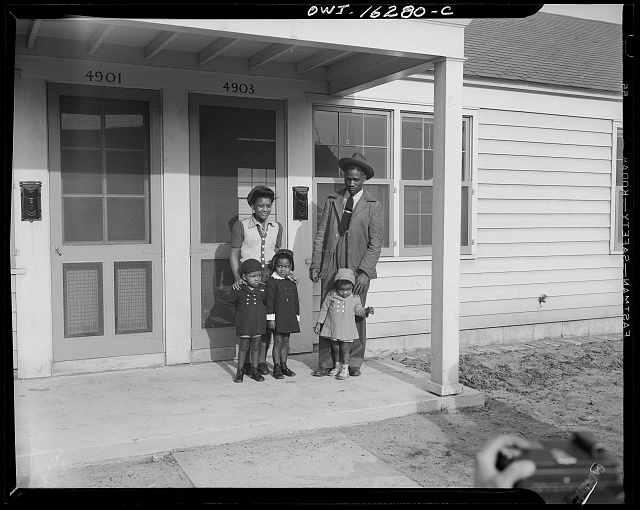 Detroit, Michigan. Typical Negro family at Sojourner Truth homes