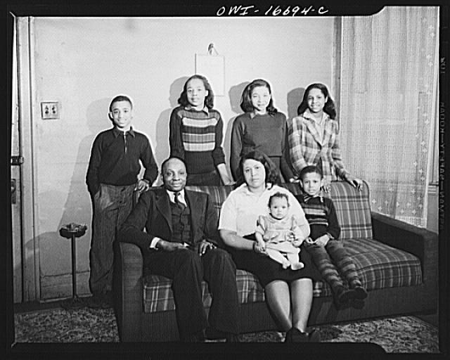 Detroit, Michigan. A typical Negro worker's family. These are conditions under which families originally lived before moving to the Sojourner Truth housing project