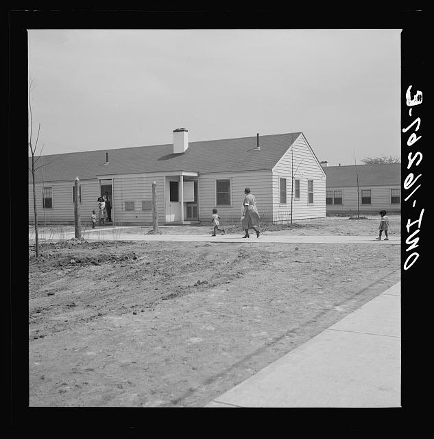 Detroit, Michigan. Negro mother and children at Sojourner Truth homes