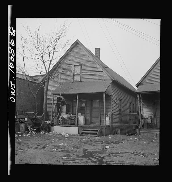 Detroit, Michigan. Typical Negro residence. These are conditions under which families originally lived before moving to the Sojourner Truth housing project