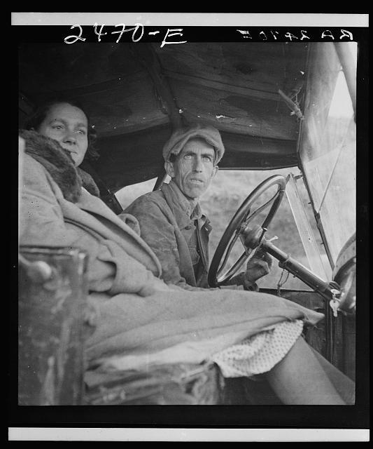 Once a Missouri farmer, now a migratory farm laborer on the Pacific Coast. California