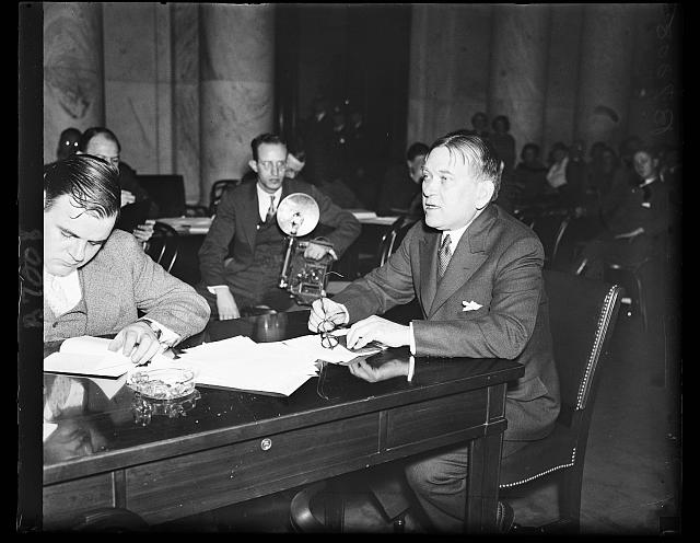 Mencken, lynching and civilization. Henry Mencken, author of note, testifies at the Senate Judiciary sub-committee hearing on the Anti-Lynching bill that
