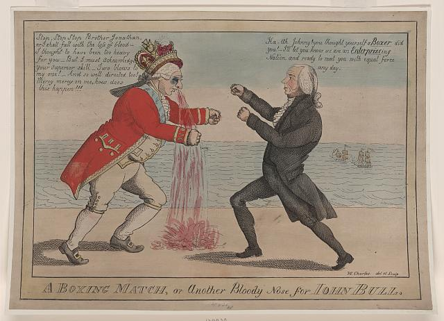 A Boxing Match, or, another bloody nose for John Bull