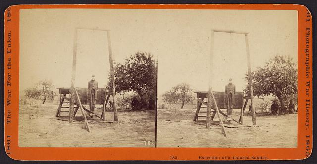 Execution of a Colored soldier