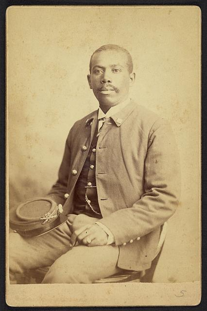 [Buffalo soldier, 25th Infantry, Co. A]