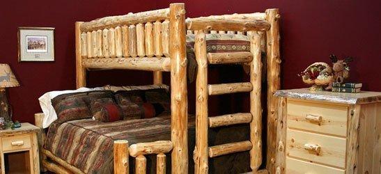 Log Bunk Beds For Kids Adult Cabin Log Bunk Beds Log Queen Bunk Beds