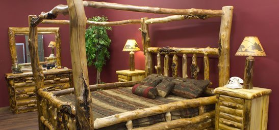 Rustic Log Canopy Beds And Four Poster Log Beds