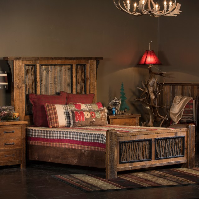 Timber Frame Barnwood Bedroom Collection